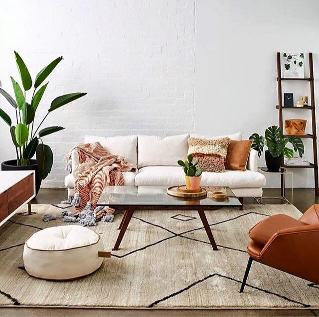 Tan and white living room styled by Tahnee Carrol